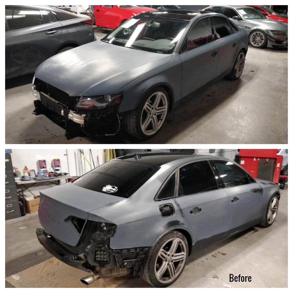 2009 Audi A4 Prep for full refinish